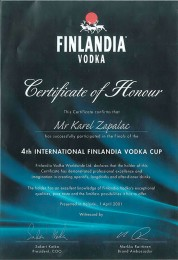 Certifikát - workshop Finsko 2001