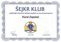 Medaile za rozvoj barmanství 2004